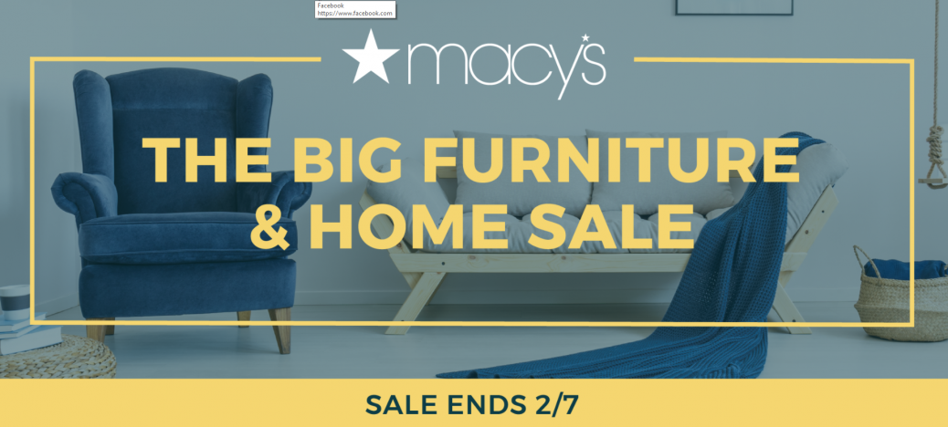 Macys 30 50 Off 25 Off Home And Furniture Sale