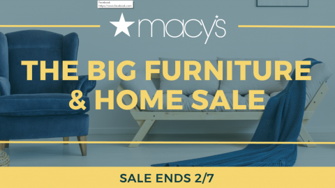 MACYS Home & Furniture Sale 30-50% Off + 25% Off
