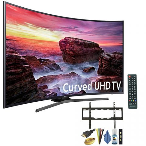Samsung 55″ Curved 4K TV Bundle $697.99