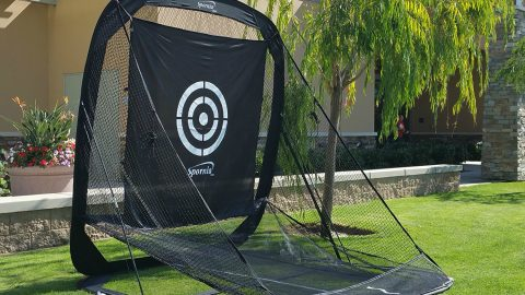 SPORNIA Pop-up Golf Practice Net Indoor/Outdoor from $184