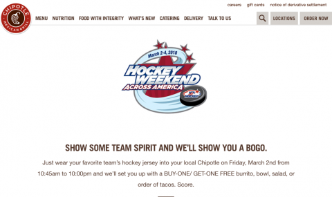 CHIPOTLE – BOGO Free Meal, a Puckin' Good Deal Ends March 2nd 10:00 PM